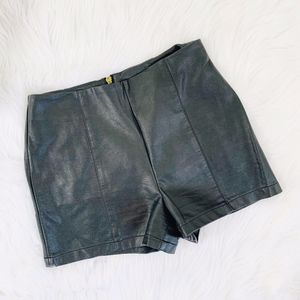 Urban Outfitters Black Vegan Leather Shorts {AP}